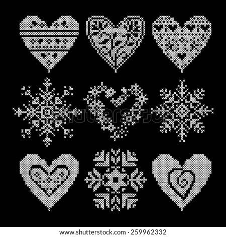 winter love seamless black