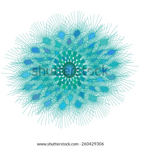 beautiful turquoise circular