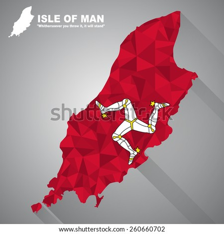 isle of man flag overlay on