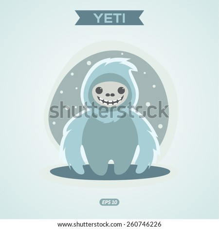 yeti  vector illustration