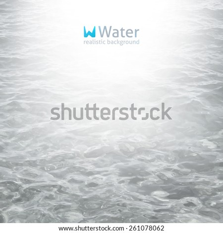 vector realistic water