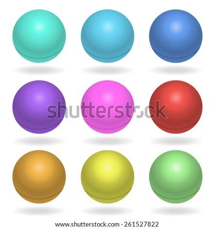 ping pong balls multicolor