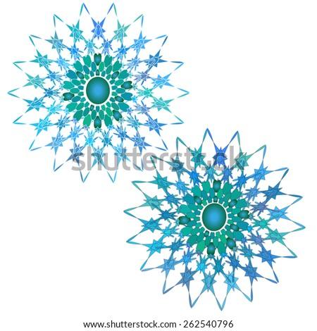 set of two circular patterns