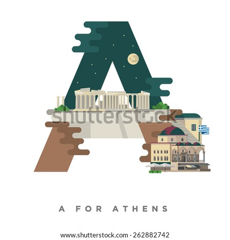 athens on letter a