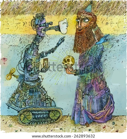 robot and wizard science and