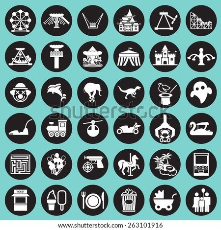 theme park and zoo icon vector