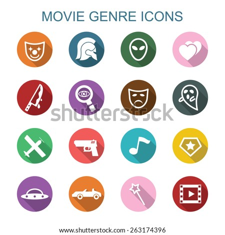movie genre long shadow icons