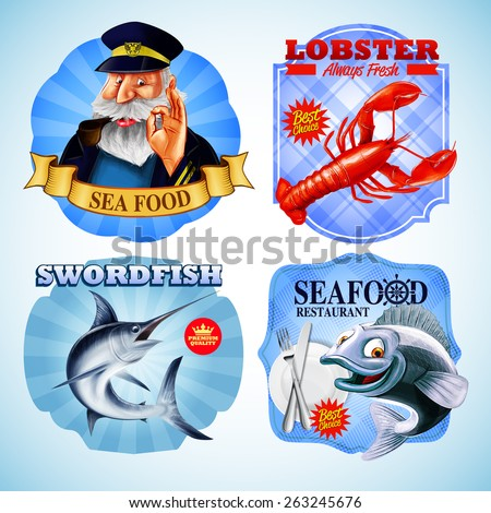 seafood stickers captain