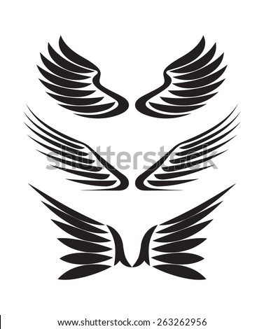 set of 3 pair of vector wings