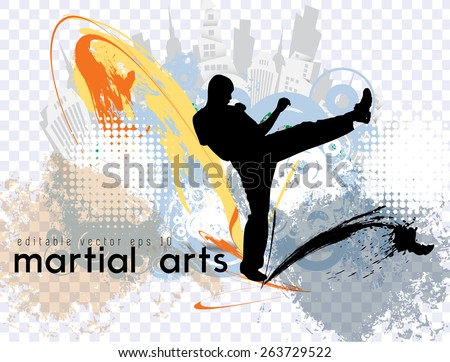 karate vector illustration