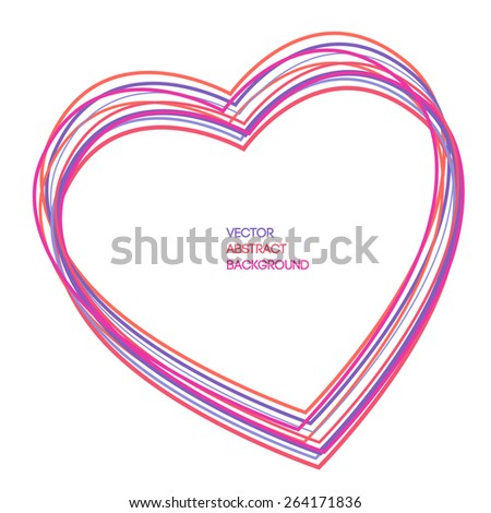 heart set of colored lines