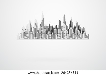 modern city skyline silhouette