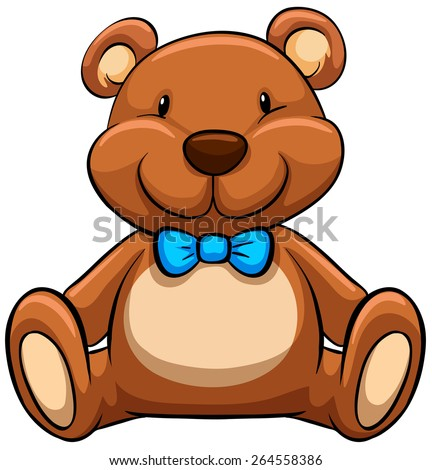 close up brown teddy bear