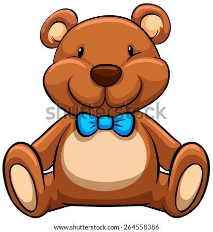close up brown teddy bear