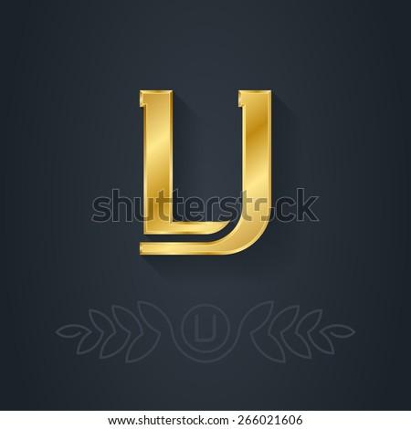 vector elegant gold font