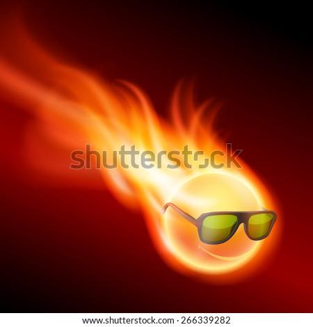 yellow burning ball wearing