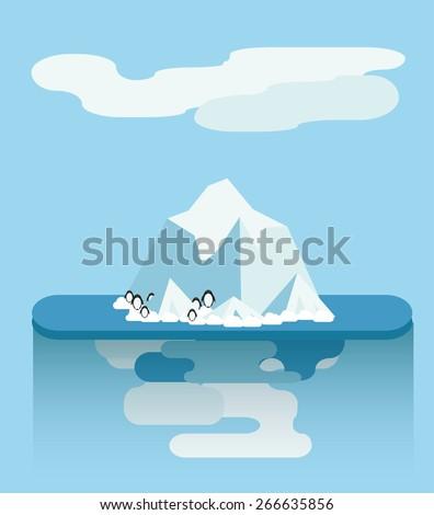 flat iceberg vector