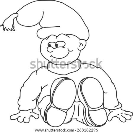 sitting gnome vector