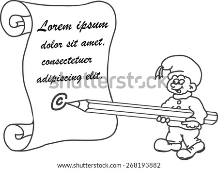 gnome writes a letter vector