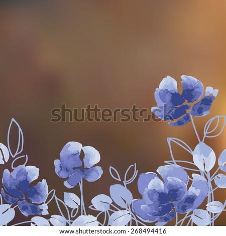 watercolor vector flowers