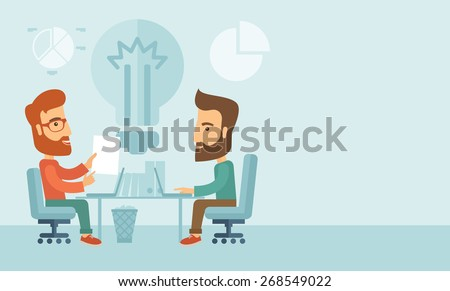 two businessmen sitting working
