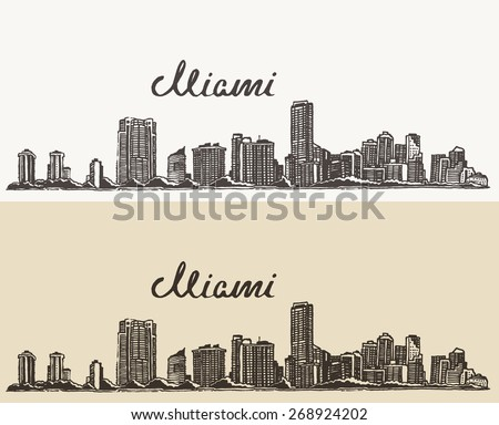 miami skyline  big city
