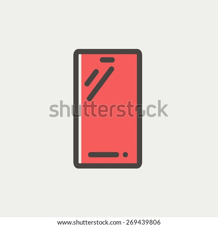 mobile phone icon thin line for