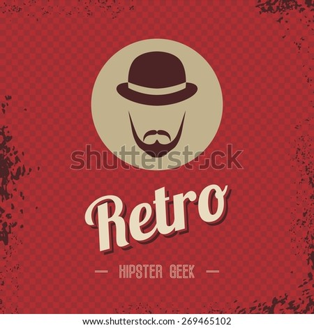 retro hipster male art