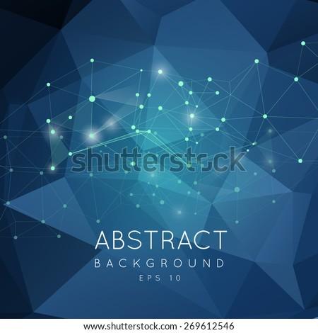 abstract polygonal backgroun