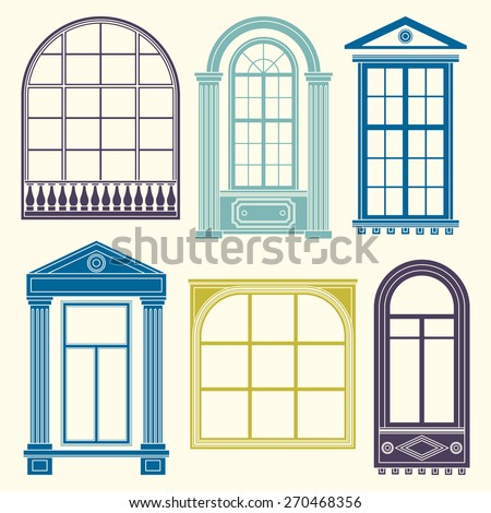 set of illustrations with a
