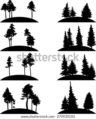 set of different landscapes