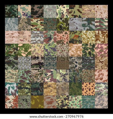 seamless set of camouflage