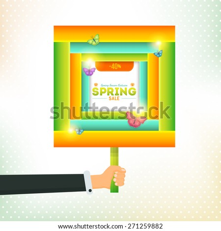 spring sale square signboard