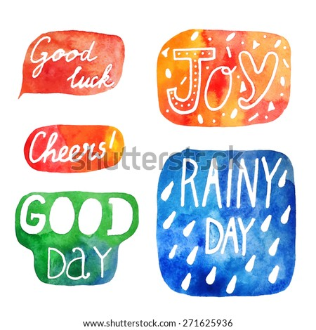 watercolor lettering joy set 2