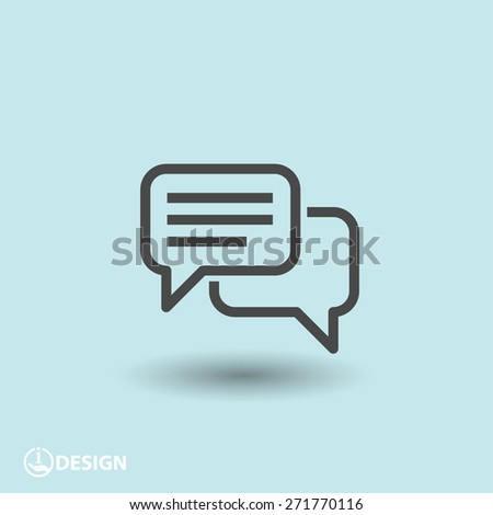 pictograph of message or chat