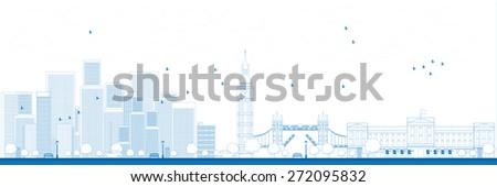 outline london skyline with