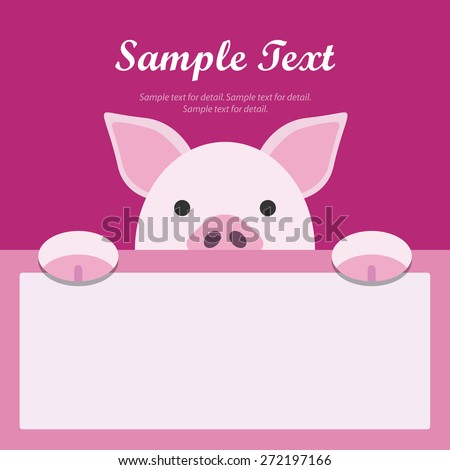 pig face text box  flat design