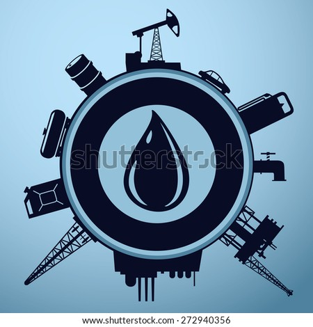 oil industry sign with a drop