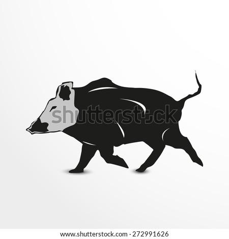 Pig Hunting Clip Art Free Vector 4vector