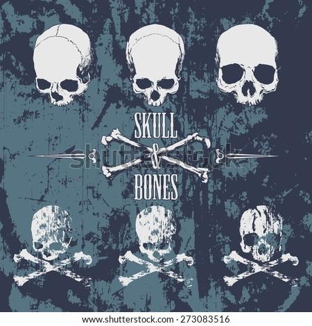 skulls and cross bones on the