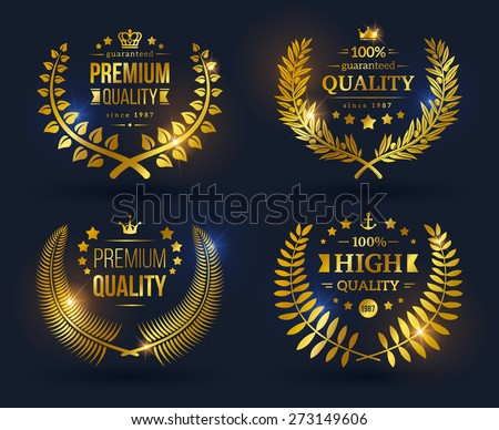 vector quality emblems with