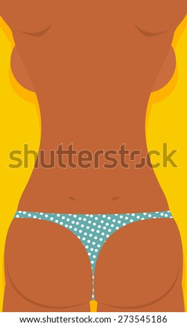 sun tanned girls woman is