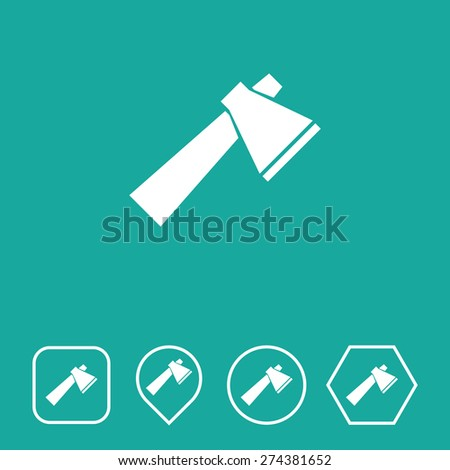 axe icon on flat ui colors with