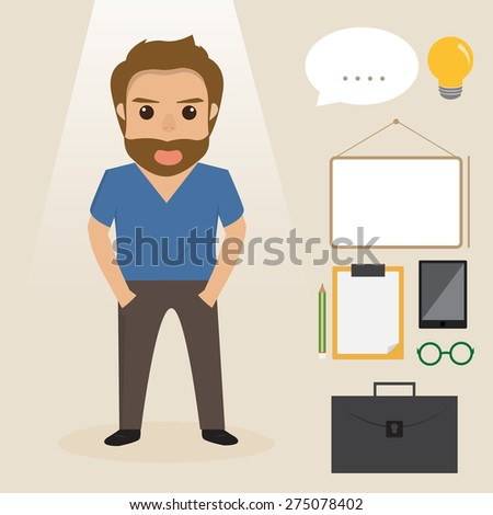 business people character at