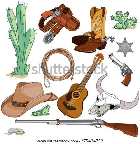 various vintage cowboy western