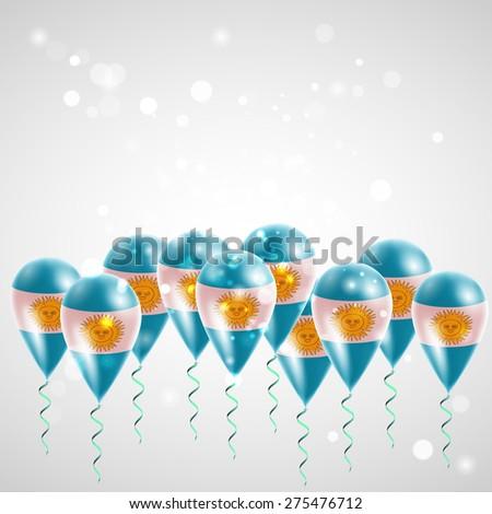 flag of argentina on balloon