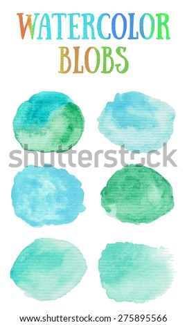 hand painted watercolor blobs