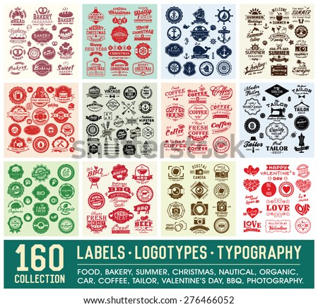 160 labels and logotypes design