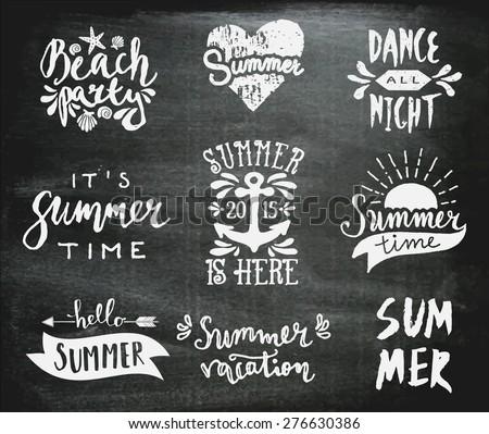 a set of chalkboard style