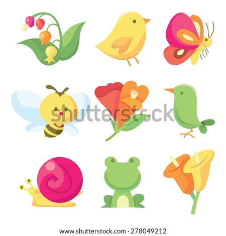 a vector illustration icon set
